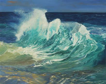 Oil painting - Ocean wave
