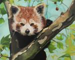 Oil painting - Red Panda