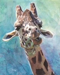 Gouache painting - Giraffe