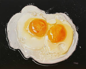 Oil painting - Fried eggs