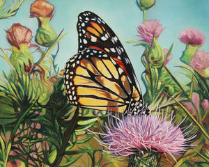 Oil painting - Monarch butterfly
