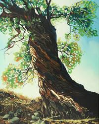 Oil painting - Big tree