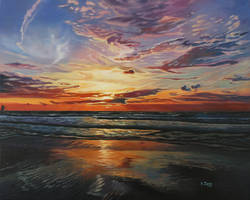 Oil painting - Sunset