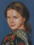 Pastel pencil drawing - Female portrait