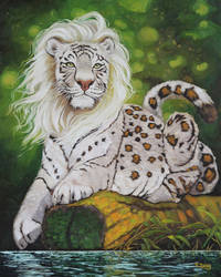 Oil painting - Mythical big cat