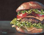 Oil painting - Hamburger