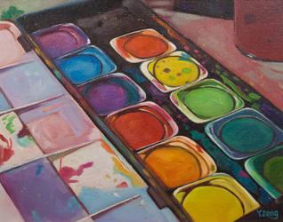 Oil painting - Color palette