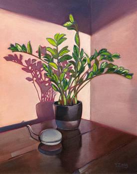 Oil painting - Hello Google 11X14