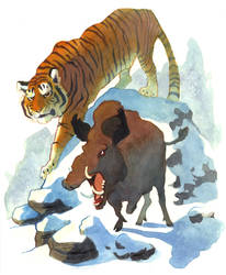 Tiger and Boar by Rowkey