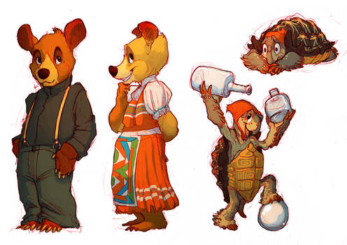 Bears n' Tortoises and BRIGHT RED