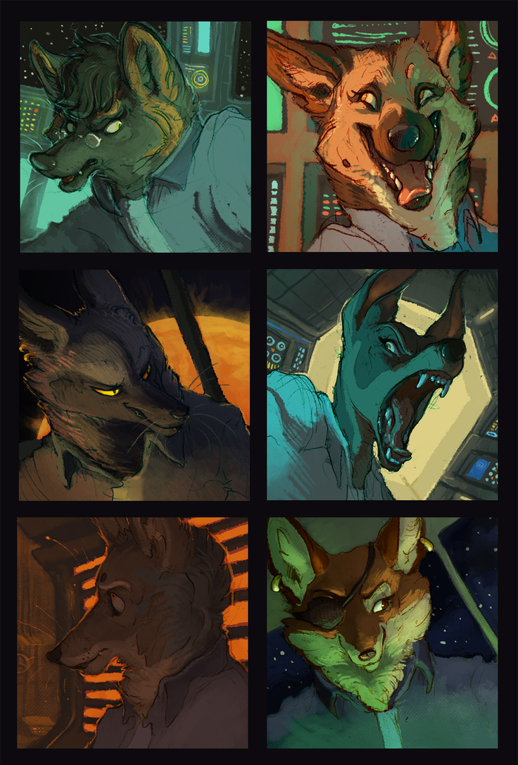 Spacepups Portraits by Rowkey