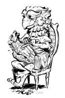 Inktober - Gargoyle Whittler by Rowkey