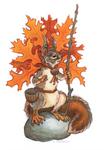 Pin Oak Squirrel