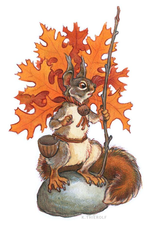 Pin Oak Squirrel by Rowkey
