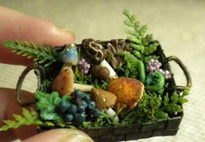Alchemy basket: Treetop Creature Shop by Minifanaticus