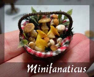 Basket of Mushrooms by Minifanaticus