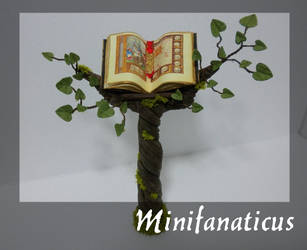 Witches Book Pedestal by Minifanaticus