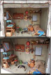 Fallout 4 Garage Diorama Full 1:12th by Minifanaticus