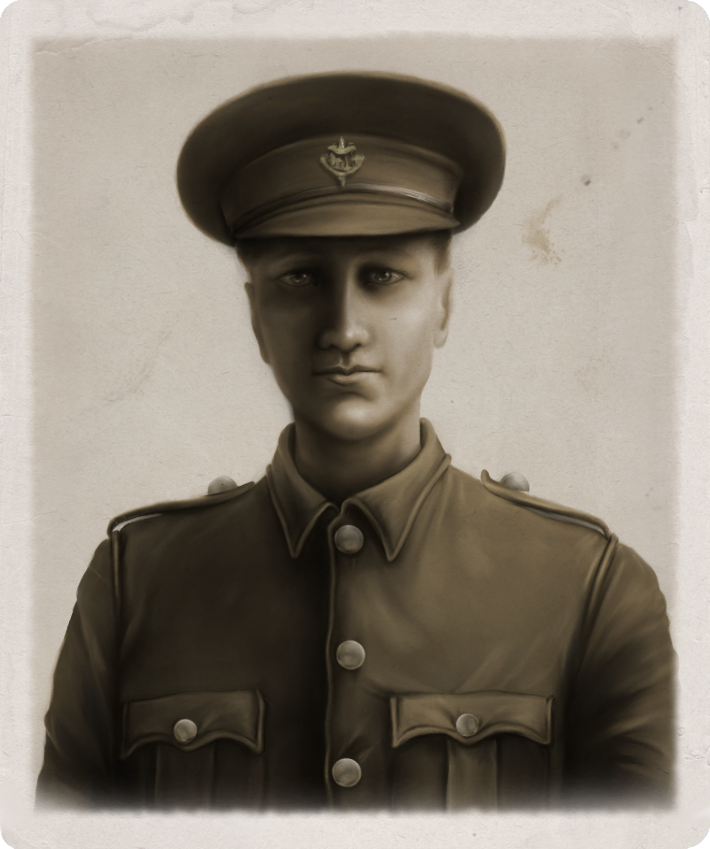 Old Army Photograph - Private L. E. Jeffries by oingy-boingy