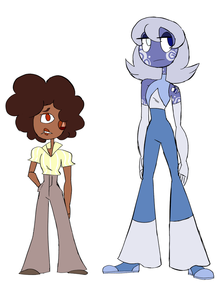 Sapph and Calcey by Commander-Katelyn