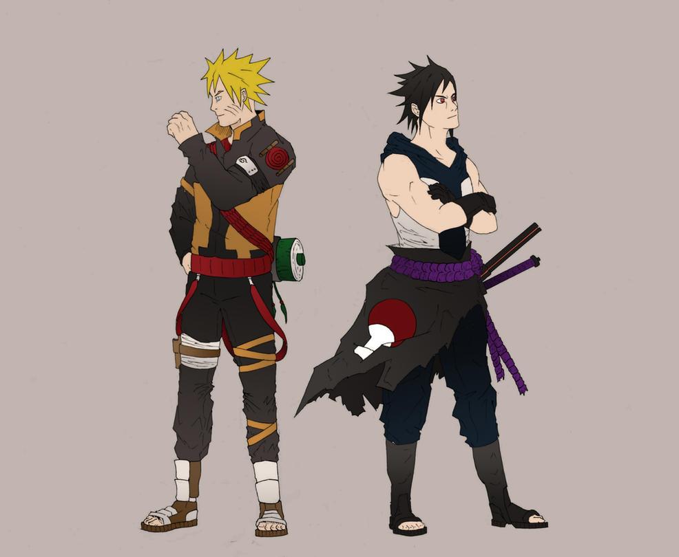Naruto and Sasuke by Lamb- Naruto 6th Hokage Jacket