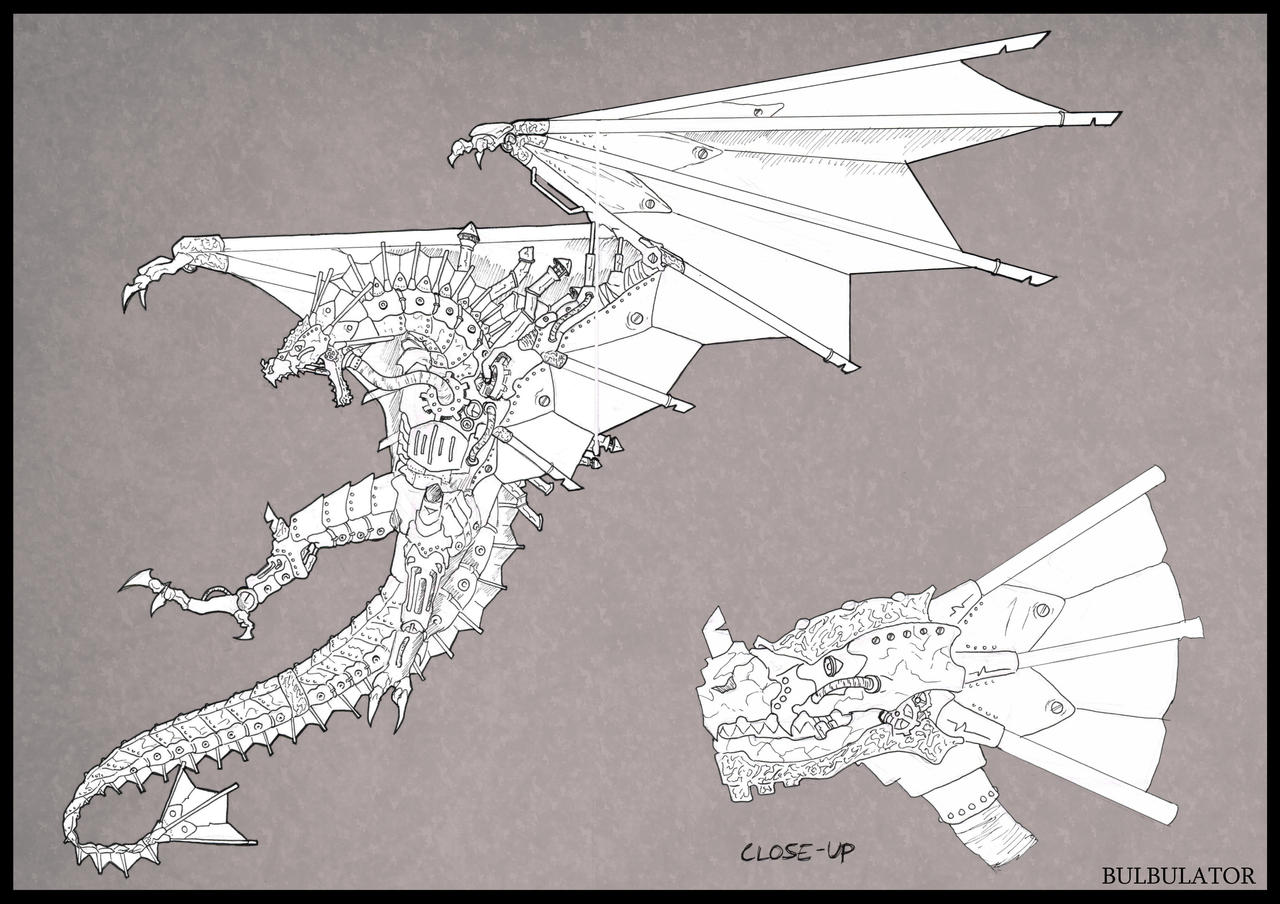 Mechanical/Steampunk/Golem (yeah...) Dragon