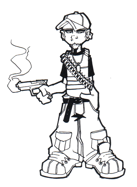 Go Back gt Gallery For Cartoon Thug Drawings
