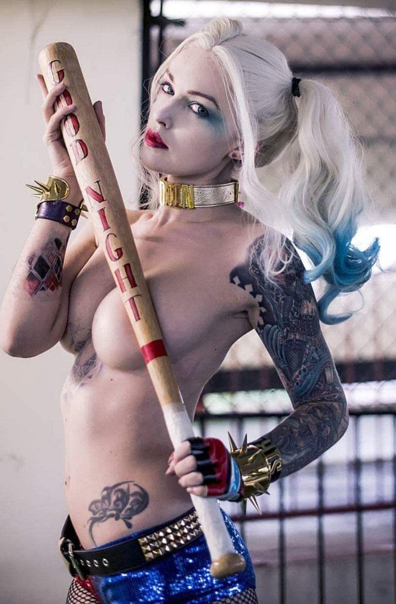 Quinn cosplay harley sexy 25 Sexy