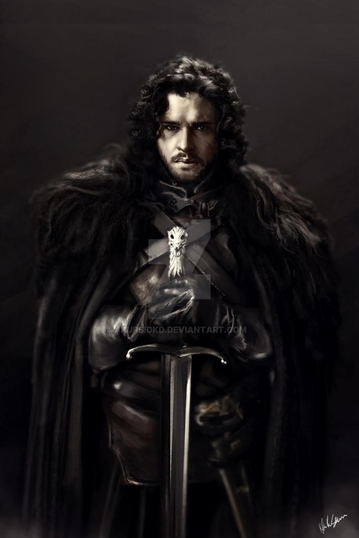 Jon Snow Portrait by GutsysaurusRex