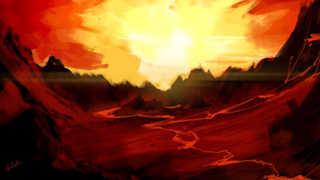 Volcanic Landscape 28-8-16 by GutsysaurusRex