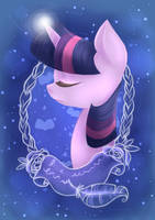 Simple Twilight Sparkle Portrait by grandifloru