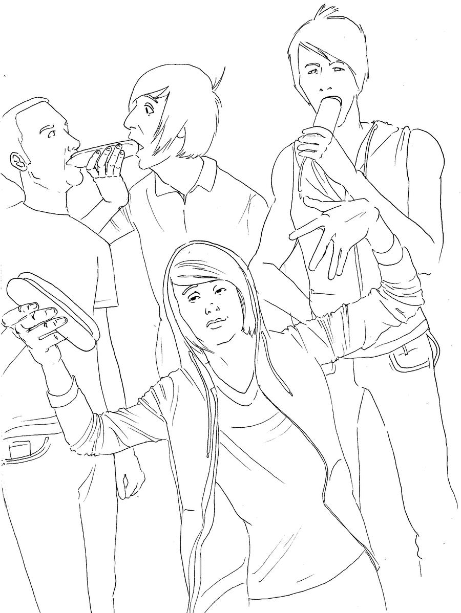 all_time_low_lineart__by_hotinthedollshouse all time low lineart by hotinthedollshouse on deviantart on all time low coloring pages
