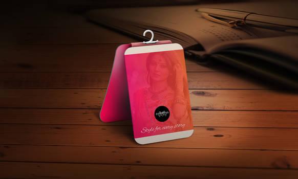 Rate Tag design for Tijori the boutique