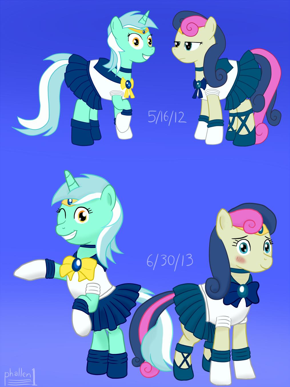 Sailor Lyra and Sailor Bob-bon, Then And Now by phallen1