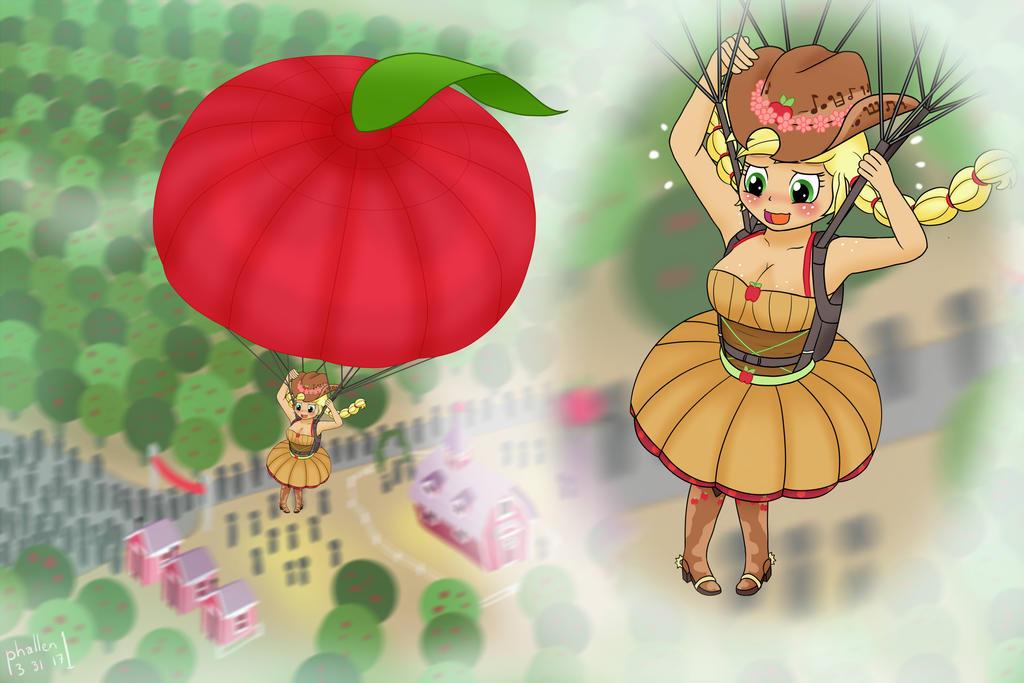 Air Ponyville: Applechute by phallen1