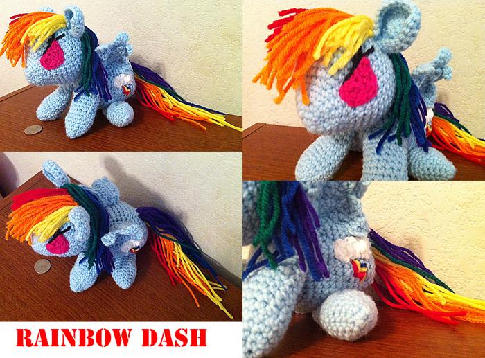 Rainbow Dash - Amigurumi by theunknownsoul