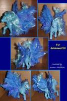Blue pegasus commission by LightningSilver-Mana