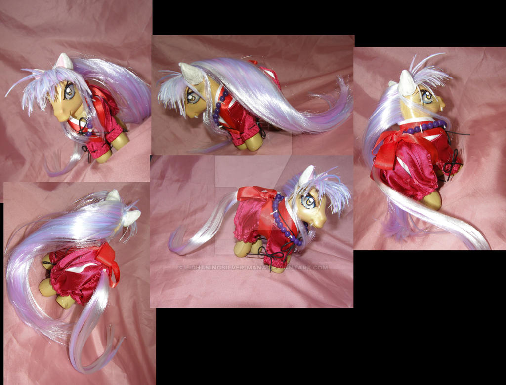 Inuyasha pony by LightningSilver-Mana