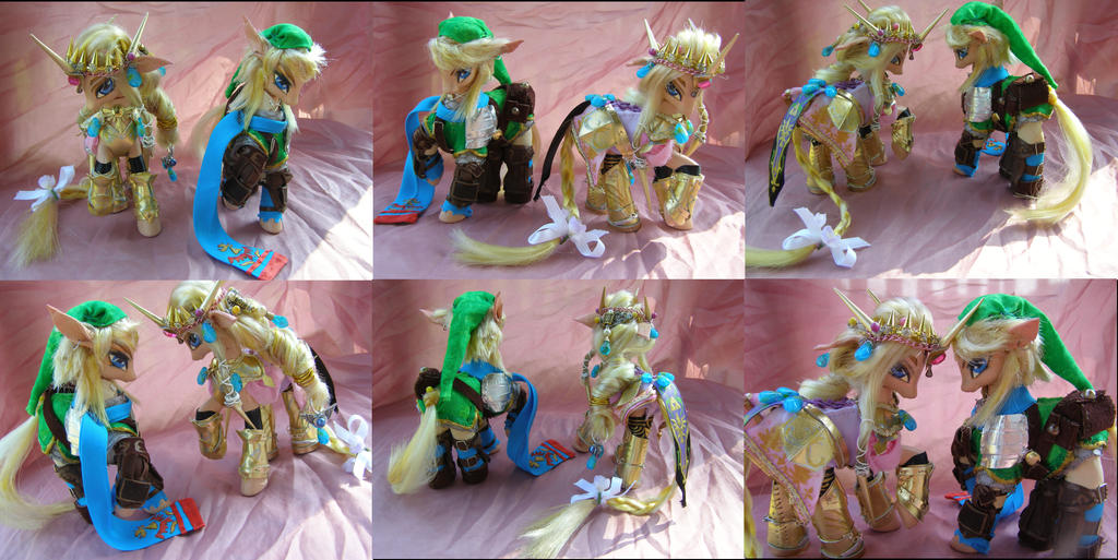 Hyrule Warriors Link and Zelda by LightningMana-Crafts