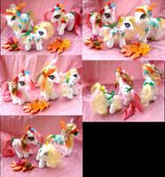 Autumn Apple Delight Custom Pony Family by LightningSilver-Mana