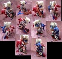 Harley Quinn Custom Pony by LightningSilver-Mana