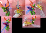 Changeling King Thorax and Princess Skystar by LightningMana-Crafts