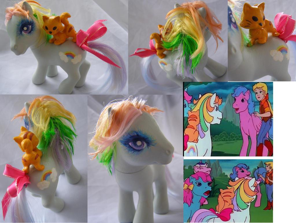 1980 vintage MLP cartoon background pony by LightningMana-Crafts