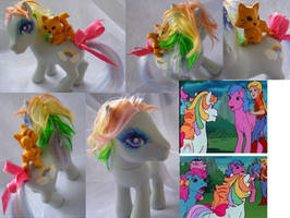 1980 vintage MLP cartoon background pony by LightningSilver-Mana