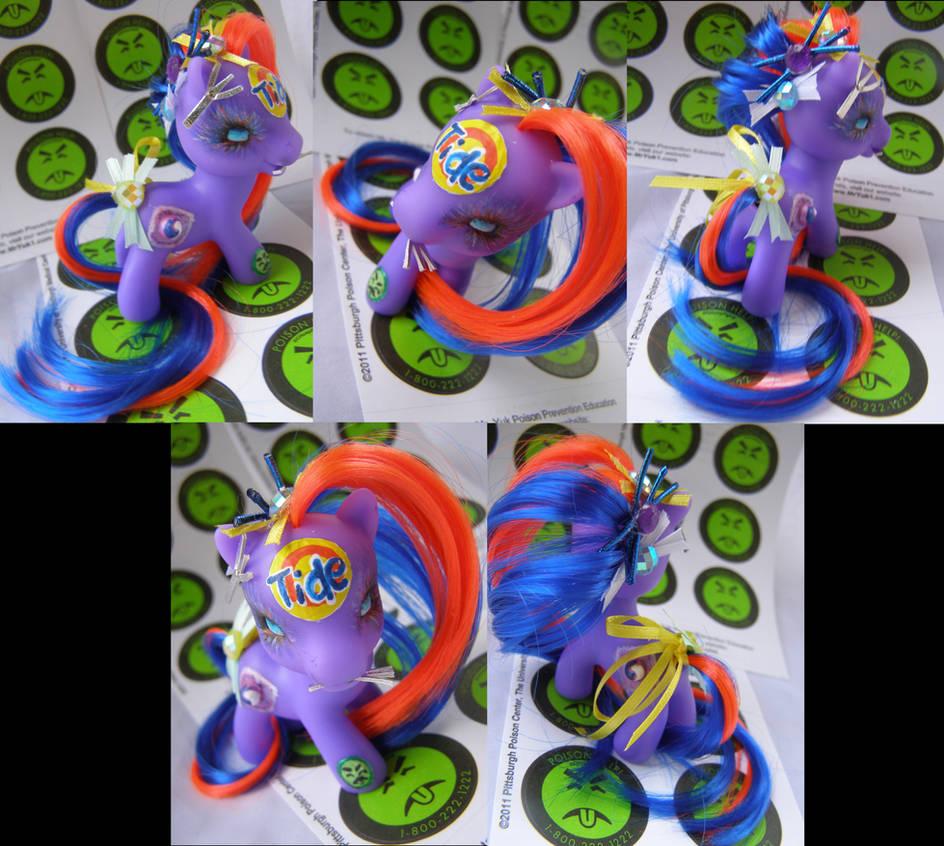 Purple Tide Pod pony by LightningSilver-Mana