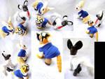 Aggretsuko custom ponies by LightningMana-Crafts