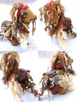 9 in. zilla sized Captain Jack Sparrow custom pony by LightningSilver-Mana