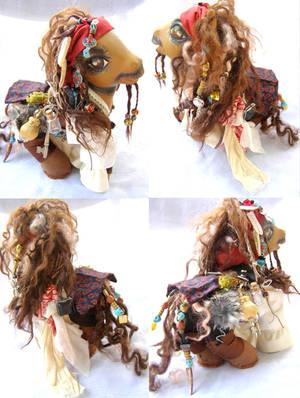 9 in. zilla sized Captain Jack Sparrow custom pony by LightningMana-Crafts