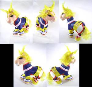 My Hero Academia All Might custom pony by LightningMana-Crafts