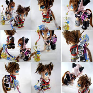 KH3 Sora and Kairi collectible ponies by LightningMana-Crafts